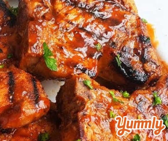 Spicy Grilled BBQ Pork Chops Recipe