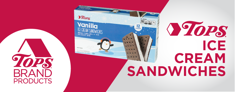 TOPS Brand Ice Cream Sandwiches