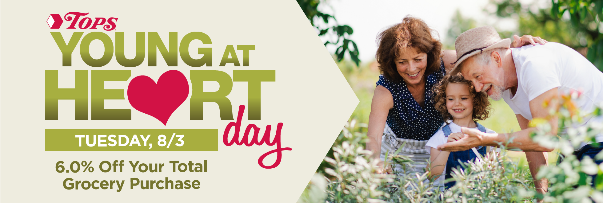 Young at Heart Day is Tuesday August 3rd