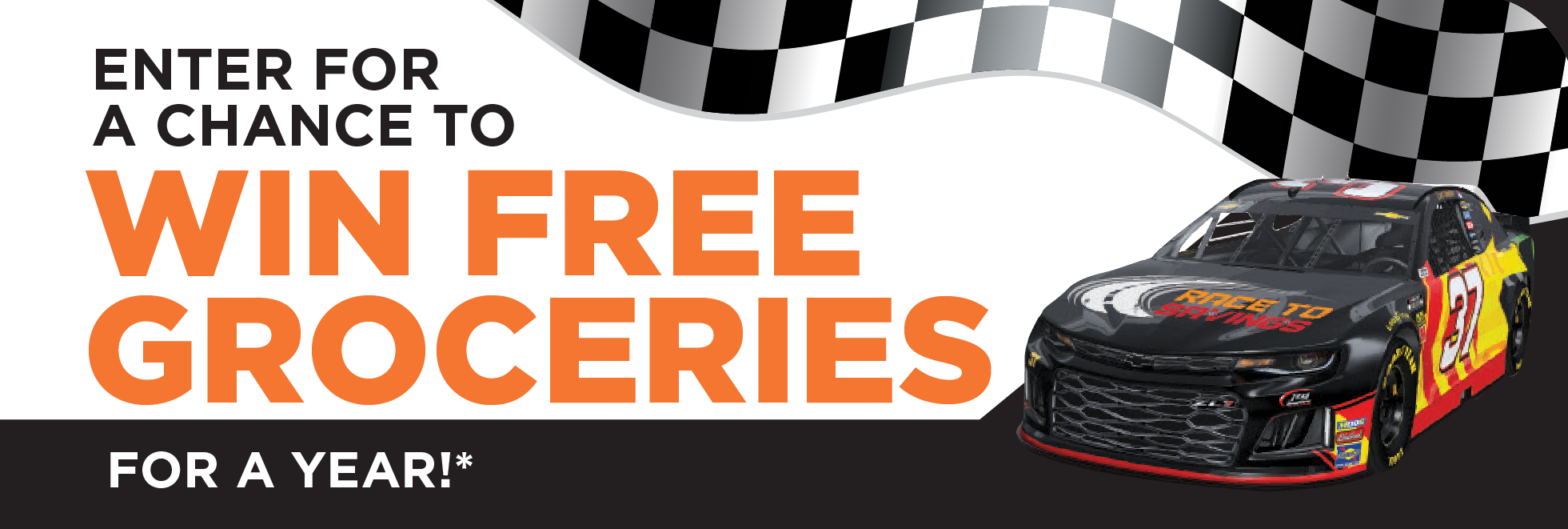 Nascar Sweepstakes Enter for a Chance to win FREE Groceries