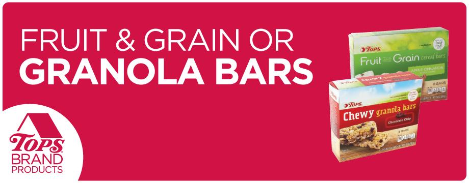 TOPS Brand Fruit and Grain Bars