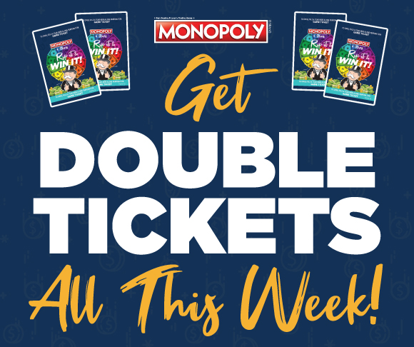 Tops Monopoly Double Tickets