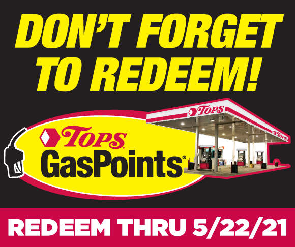 Redeem Tops GasPoints through May 22 2021