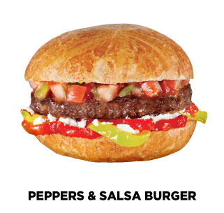 Peppers and Salsa Burger Recipe